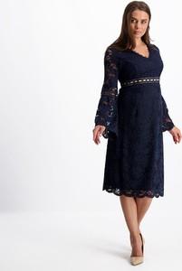 Sukienka Lavard midi ołówkowa z długim rękawem