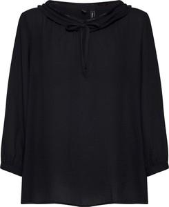 Bluzka Vero Moda ze sznurowanym dekoltem z długim rękawem