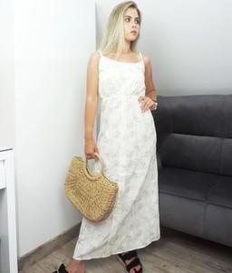 Sukienka Juni z bawełny na ramiączkach w stylu casual