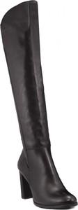 Czarne kozaki SIMEN za kolano na zamek