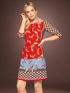Sukienka Heine mini z długim rękawem z okrągłym dekoltem
