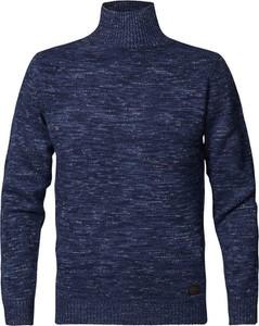 Granatowy sweter Petrol Industries z bawełny