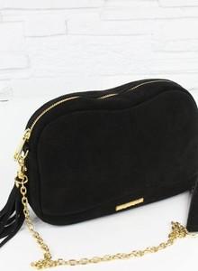 Czarna torebka Fabiola z zamszu