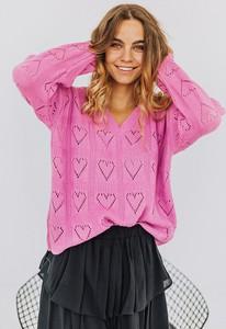 Różowy sweter Promese