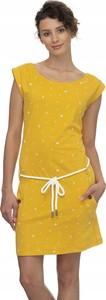 Sukienka Donna Karan w stylu casual z okrągłym dekoltem