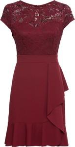Czerwona sukienka bonprix BODYFLIRT z okrągłym dekoltem