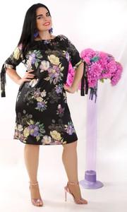 Sukienka Oscar Fashion dla puszystych midi hiszpanka