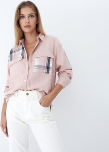 Różowa koszula Mohito w stylu casual