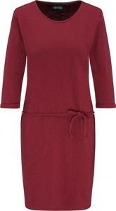 Czerwona sukienka Recolution z bawełny z długim rękawem mini
