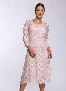 Sukienka Semper z tkaniny z okrągłym dekoltem