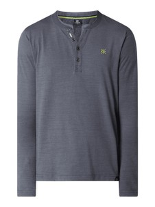 T-shirt Lerros w stylu casual z długim rękawem z bawełny