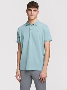 Niebieski t-shirt Jack & Jones w stylu casual
