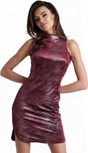 Czerwona sukienka Ivon mini z tkaniny