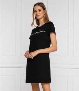 Czarna sukienka Love Moschino prosta w stylu casual