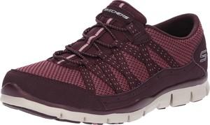 Czerwone buty sportowe Skechers sznurowane