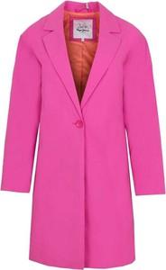 Różowy płaszcz Pepe Jeans w stylu casual