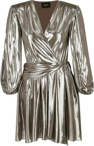 Złota sukienka Liu-Jo kopertowa mini