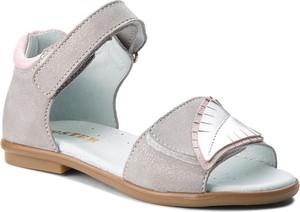 Buty dziecięce letnie Mido na obcasie z zamszu na rzepy