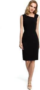 Czarna sukienka Merg midi bez rękawów