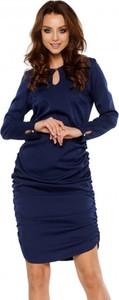 Niebieska sukienka Lemoniade z długim rękawem mini