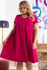 Czerwona sukienka KARKO mini w stylu casual