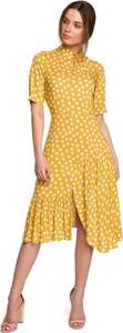 Sukienka Style midi hiszpanka z krótkim rękawem