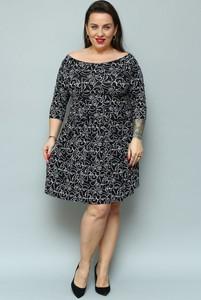 Czarna sukienka KARKO z dresówki hiszpanka