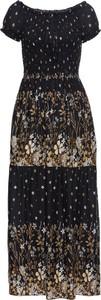 Czarna sukienka bonprix BODYFLIRT boutique z krótkim rękawem maxi