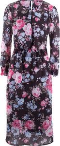 Sukienka bonprix bpc bonprix collection midi z długim rękawem
