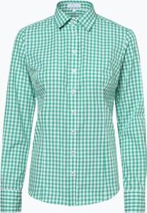 Miętowa bluzka brookshire z długim rękawem z kołnierzykiem
