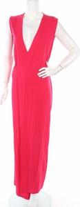 Różowa sukienka Osklen z dekoltem w kształcie litery v bez rękawów