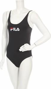 Czarny strój kąpielowy Fila w sportowym stylu