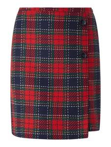 Czerwona spódnica Christian Berg Women z wełny w stylu casual