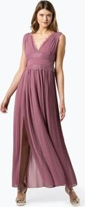 Różowa sukienka Marie Lund bez rękawów maxi