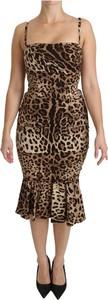 Sukienka Dolce & Gabbana bodycon midi na ramiączkach