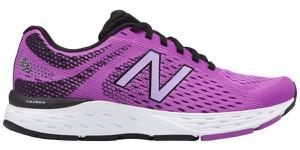 Różowe buty sportowe New Balance na koturnie sznurowane