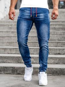Granatowe jeansy Denley z jeansu