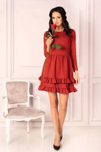 Sukienka MERRIBEL z bawełny mini rozkloszowana