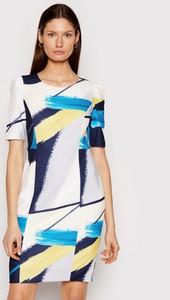 Sukienka DKNY z krótkim rękawem w stylu casual