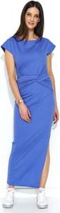 Niebieska sukienka Makadamia maxi