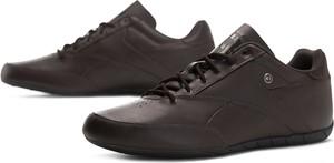 Brązowe buty sportowe Reebok sznurowane