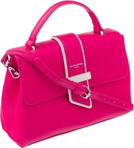 Różowa torebka David Jones ze skóry ekologicznej