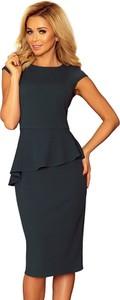 Sukienka NUMOCO midi z krótkim rękawem baskinka