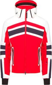 Czerwona kurtka Bogner z tkaniny krótka