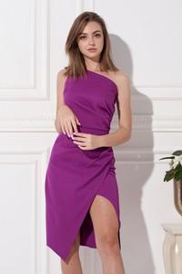 Fioletowa sukienka Ella Boutique asymetryczna hiszpanka