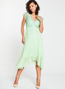 Sukienka V by Very z dekoltem w kształcie litery v midi bez rękawów