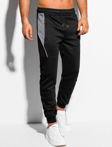 Czarne spodnie sportowe Edoti z dresówki
