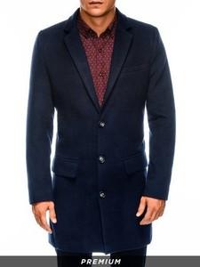 Granatowy płaszcz męski Ombre