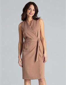 Sukienka LENITIF z długim rękawem midi ołówkowa