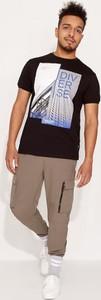 T-shirt Diverse z bawełny z nadrukiem